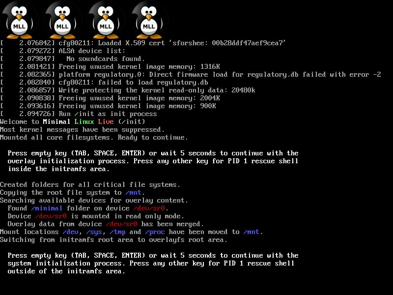 Minimal Linux Live