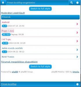 Új fórum felület mobilra és tabletekhez