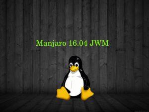 Manjaro rendszerfrissítés és JWM menü javítása