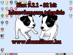 Slax linux 9 telepítés merevlemezre – videó