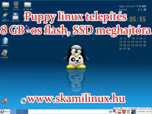 Puppy linux telepítés 8 GB -os USB flash, SSD meghajtóra – videó