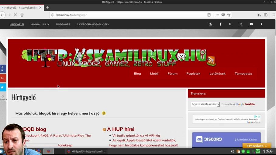 A skamilinux.hu weboldal bemutatása