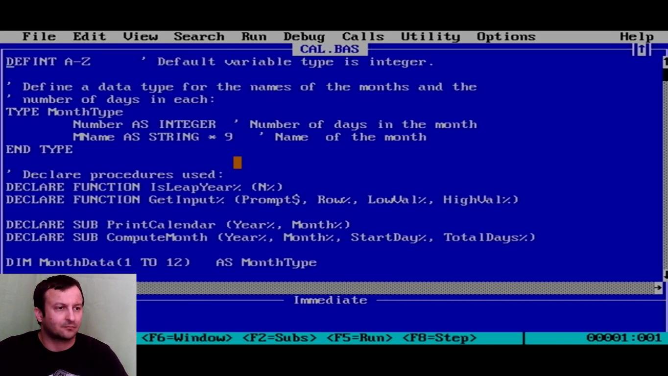 QBasic 7.1 PDS futtatása DosBox alatt