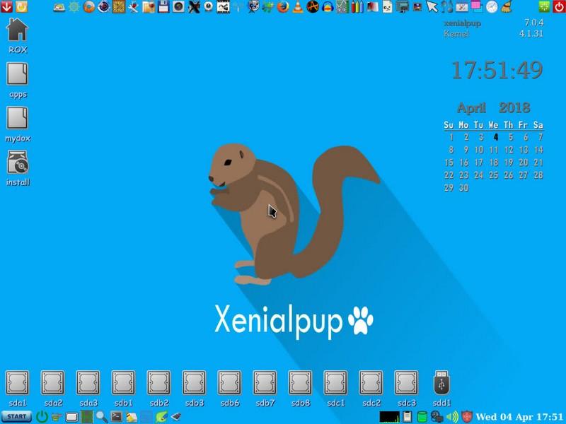 XenialPup7.0.4 Rev.4 Final Eng/Hun 2018 áprilisi eresztés