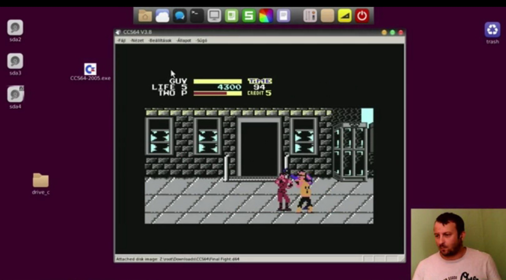 Final Fight – C64 gameplay