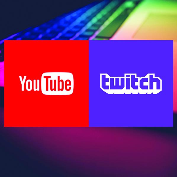 Twitch és Youtube oldalaink és a közösségi linkek