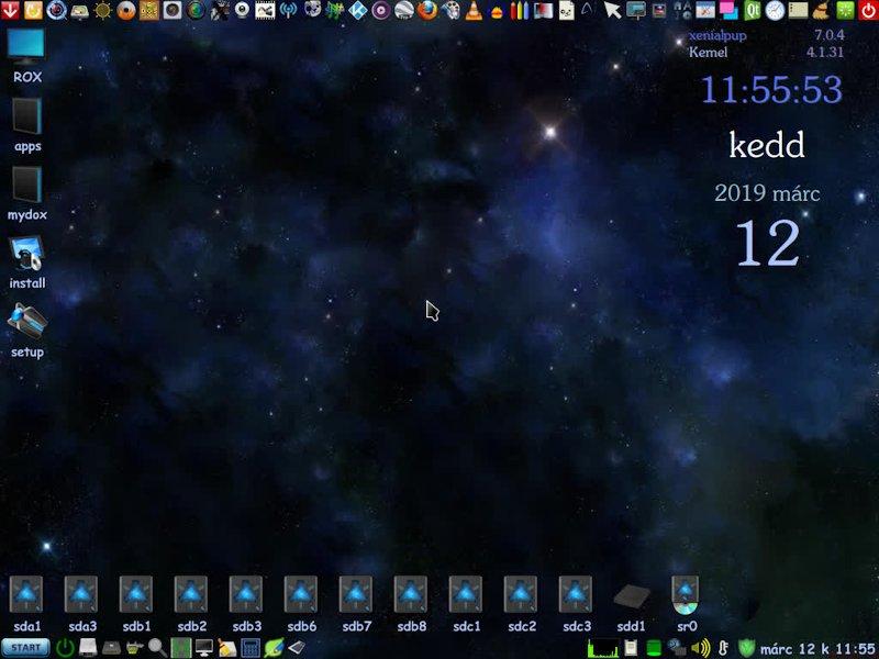 XenialPup7.0.4 Rev.6 Hun/Eng, 2019 márc. NoWine, Kodival
