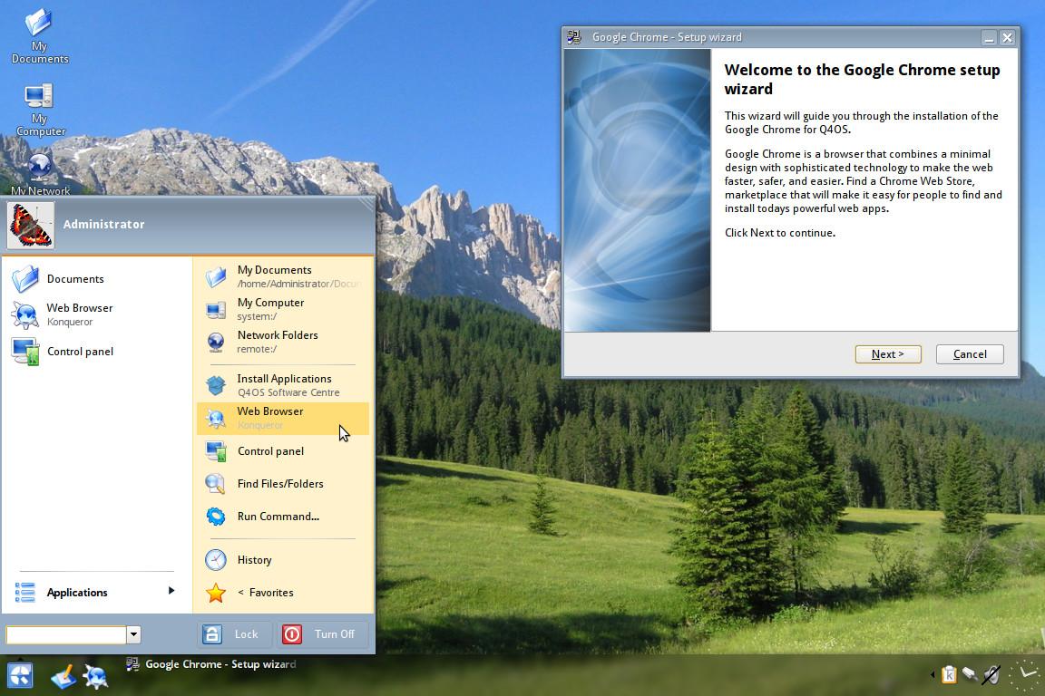Q4OS 3.8 i386 r2 telepítés és áttekintés